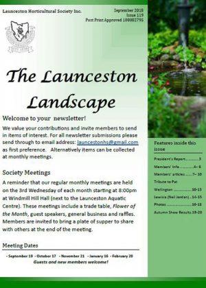 launceston landscape sept 2018 cover